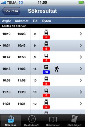 Tram time app