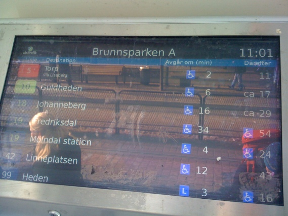 Real tram times