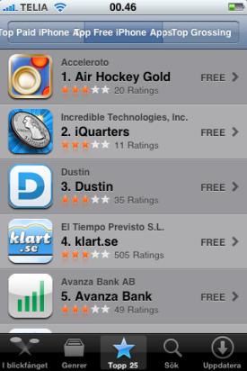 App store string