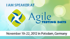 Speaker at Agile Testing Days 2012